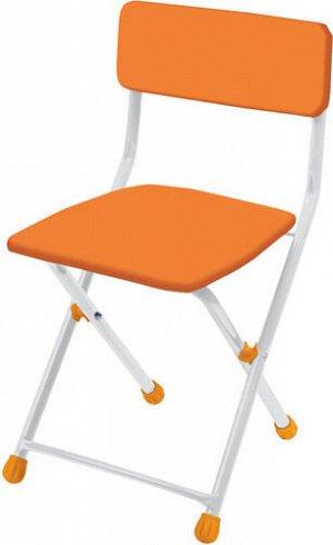 Стул детский мягкий складной оранжевый ,высота 32см