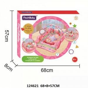 Коврик детский развивающий с игрушками, кор. 68*57*8см