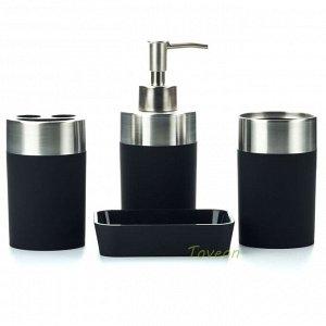 Набор аксессуаров для ванной комнаты, АВ-8804 черный