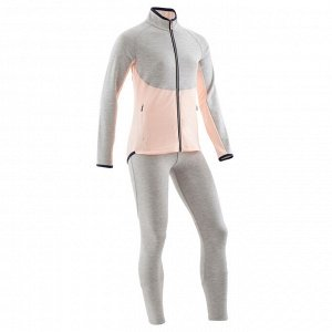 Спортивный костюм утепленный, синтетический, дышащий S500 для девочек DOMYOS