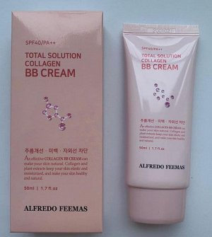 Alfredo Feemas total solution collagen bb cream Увлажняющий BB крем с коллагеном 50мл