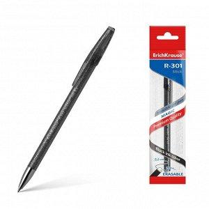 """Ручка гелевая """"Пиши-стирай"""" Erich Krause R-301 Magic Gel, узел 0.5 мм, чернила чёрные стираемые, длина письма 200 м, 1 штука"""