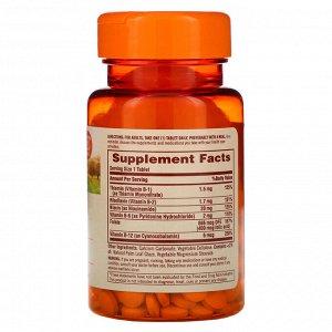 Sundown Naturals, Комплекс витаминов группы В, 100 таблеток