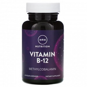 MRM, Nutrition, Vitamin B-12, 60 Vegan Lozenges