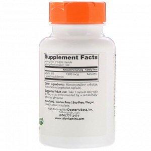Doctor&#x27 - s Best, Активный витамин B12, 1500 мкг, 180 растительных капсул