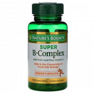 Nature&#x27 - s Bounty, Супер комплекс витаминов В с фолиевой кислотой и витамином С, 150 таблеток