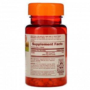 Sundown Naturals, Фолат, 666 мкг фолиевого эквивалента, 350 таблеток