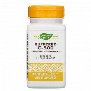 Nature&#x27 - s Way, Buffered C-500, 500 mg, 100 Capsules