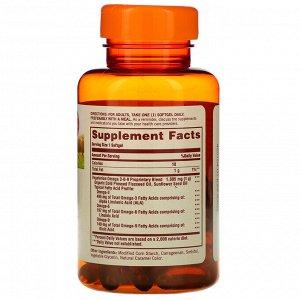 Sundown Naturals, Омега 3-6-9, 50 мягких таблеток