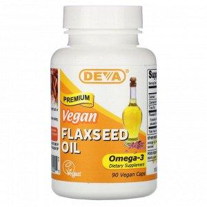 Deva, Premium Vegan Flaxseed Oil, 90 Vegan Caps