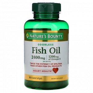 Nature&#x27 - s Bounty, Рыбий жир, 2400 мг, 90 мягких таблеток с покрытием