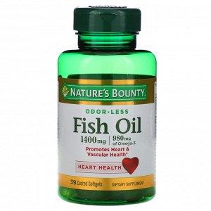 Nature&#x27 - s Bounty, Рыбий жир, тройная сила, 1400 мг, 39 мягких желатиновых капсул в оболочке