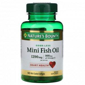 Nature&#x27 - s Bounty, Мини-рыбий жир, 1290 мг, 90 мягких желатиновых мини-капсул