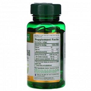 Nature&#x27 - s Bounty, Масло вечерней примулы, 1000 мг, 60 мягких капсул с быстрым высвобождением