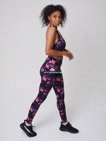Спортивный костюм для фитнеса темно-фиолетового цвета