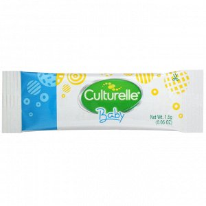 Culturelle, Probiotics, Baby, Grow + Thrive, Probiotics + Vitamin D Packets, 12-24 Months, Unflavored, 30 Single Serve Packets