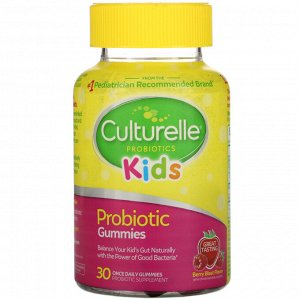 Culturelle, Kids, Probiotic Gummies, Berry Blast Flavor, 30 Once Daily Gummies