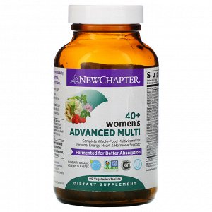 New Chapter, 40+ Women&#x27 - s Advanced Multi, 96 Vegetarian Tablets