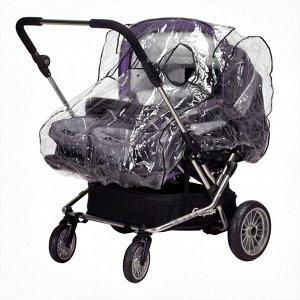 Дождевик на коляску для двойни Бим-Бом