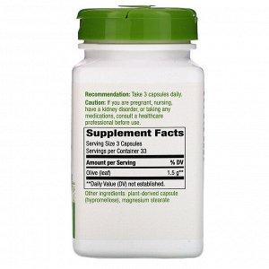 Nature&#x27 - s Way, Olive Leaf, 1,500 mg, 100 Vegan Capsules