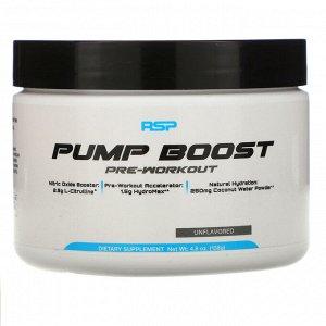 RSP Nutrition, Pump Boost Pre-Workout, Unflavored, 4.8 oz (138 g)