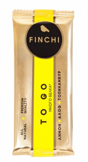 Батончик фруктово-ореховый FINCHI TO GO «лимон-алоэ-топинамбур» с конопляным протеином