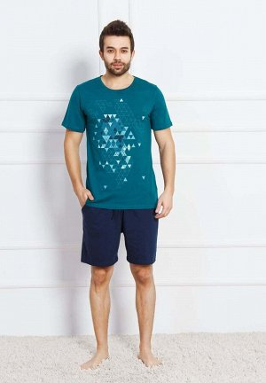 Пижама Citlali Цвет: Серо-Зеленый (L). Производитель: GAZZAZ