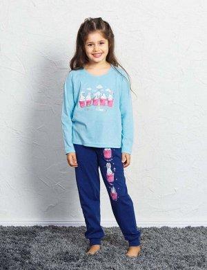 Детская пижама Tiger Цвет: Светло-Бирюзовый. Производитель: VIENETTA SECRET