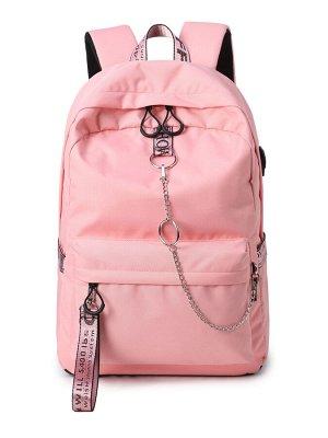 Рюкзак Молодёжный Цвет Розовый (13х30х40 см)