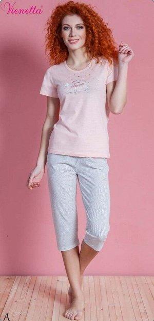 Пижама Eliza Цвет: Персиковый. Производитель: VIENETTA SECRET