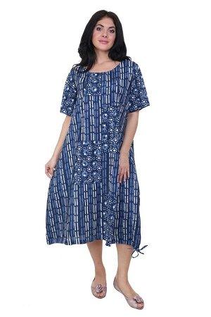 Платье Jezebel Цвет: Синий,Белый. Производитель: Ганг