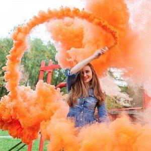 Цветной дым фитиль Оранжевый