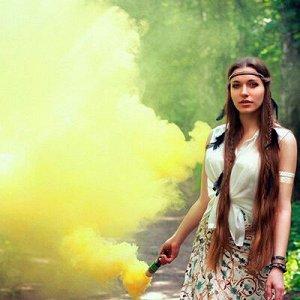 Цветной дым фитиль Желтый