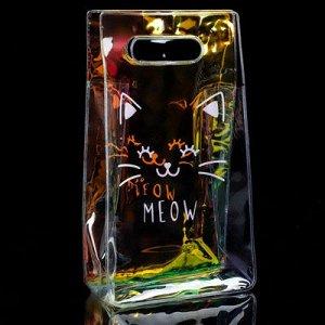 Пакет гологр пласт Meow 13х23х6см