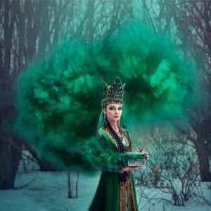 Цветной дым фитиль Зеленый