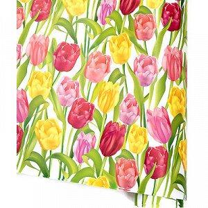 Бумага глянец Цветы асс 70х100см