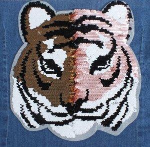 Термоаппликация двусторонняя «Тигр»,