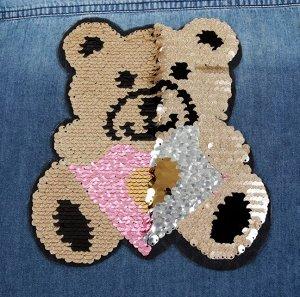 Термоаппликация двусторонняя «Медведь»