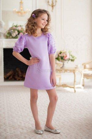 Платье Платье из плотного атласа, полностью на хлопковом подкладе. Особый акцент на шикарные рукава фонарики с сеткой из бусин. Молния по спинке.