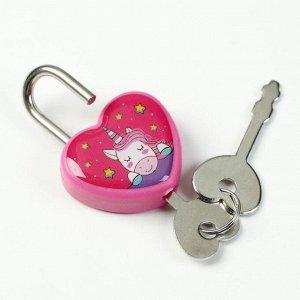 Замочек для чемодана с ключами «Единорог»