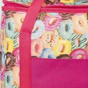 Сумка-термо, 23 л, отдел на молнии, наружный карман, цвет розовый