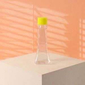 Бутылочка для хранения «Башня», 50 мл, цвет прозрачный/жёлтый
