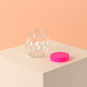 Баночка для хранения «Тыква», 60 мл, цвет розовый