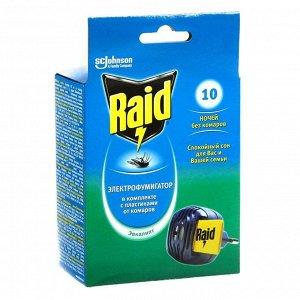 Электрофумигатор Raid и пластины от комаров, 10 шт.