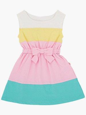 Платье (98-122см) UD 1440(1)цветное/изумр