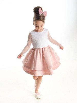 Платье (98-122см) UD 6899(1)бел/розов