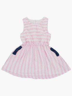 Платье в полоску (98-122см) UD 6552(2)роз полоса