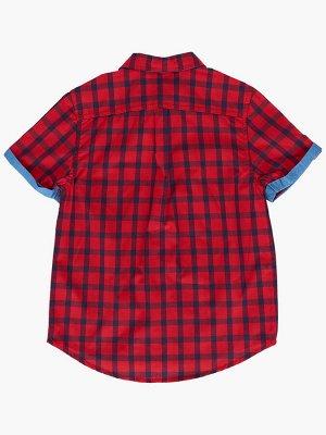 Сорочка (рубашка) (122-146см) UD 4770(1)крас/син клетка