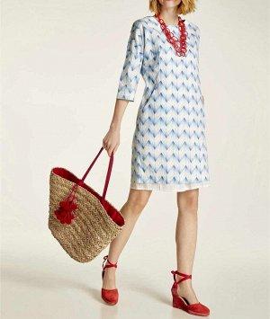 Платье, голубое