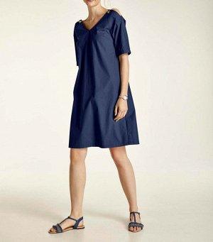 Платье, темно-синее